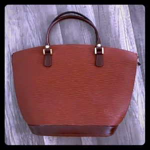 Boots and Bags brown leather satchel
